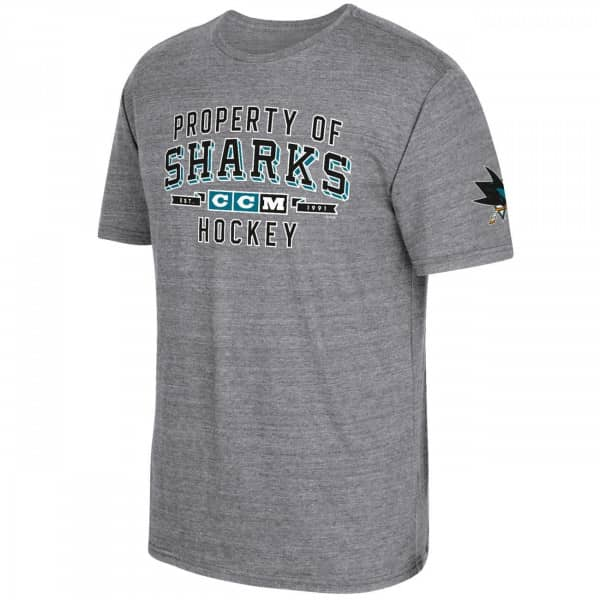 San Jose Sharks Property Block NHL T-Shirt Grau