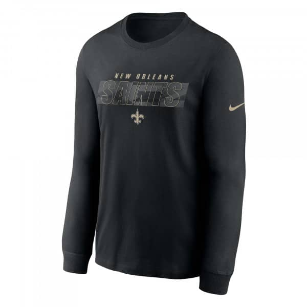 New Orleans Saints Playbook Nike Long Sleeve NFL Shirt Schwarz