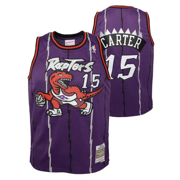 Vince Carter #15 Toronto Raptors 1998-99 Youth Swingman NBA Trikot (KINDER)