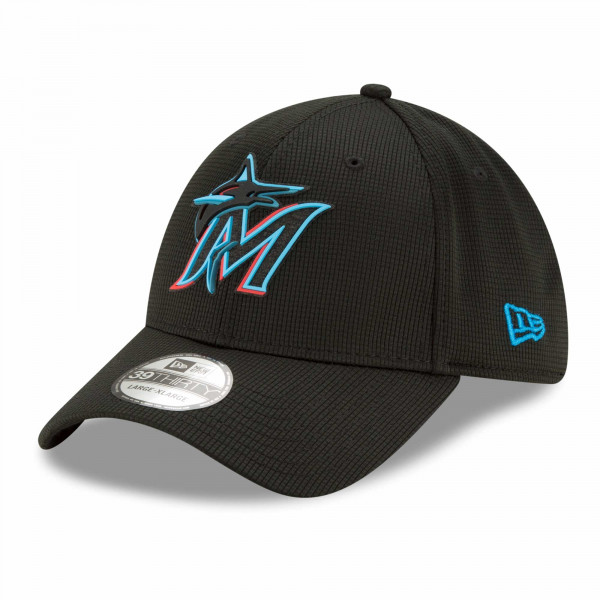 Miami Marlins 2021 MLB Authentic Clubhouse New Era 39THIRTY Flex Cap