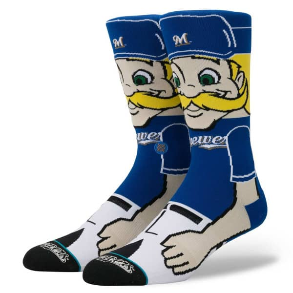 Milwaukee Brewers Bernie Brewer Maskottchen MLB Socken