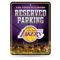 Los Angeles Lakers Reserved Parking NBA Metallschild