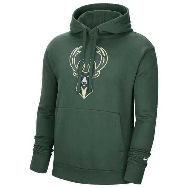 Milwaukee Bucks Essential Logo Nike NBA Sweatshirt Hoodie Rot