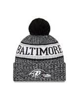 Baltimore Ravens Black 2018 Sideline Sport Knit NFL Wintermütze