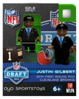 NFL Justin Gilbert Cleveland Browns 2014 Draft Day Minifigur