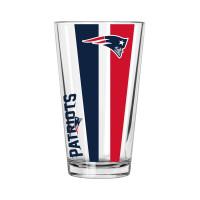 New England Patriots Vertical Stripe NFL Pint Glas (470 ml)