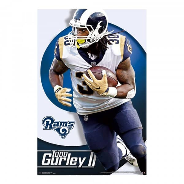 Los Angeles Rams Todd Gurley Superstar NFL Poster