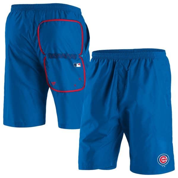 Chicago Cubs Enhanced Sport Fanatics MLB Shorts Blau