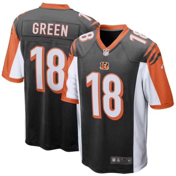 A.J. Green #18 Cincinnati Bengals Game Football NFL Trikot Schwarz
