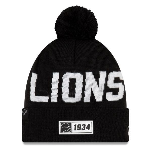 Detroit Lions Black 2019 NFL Sideline Sport Knit Wintermütze Road