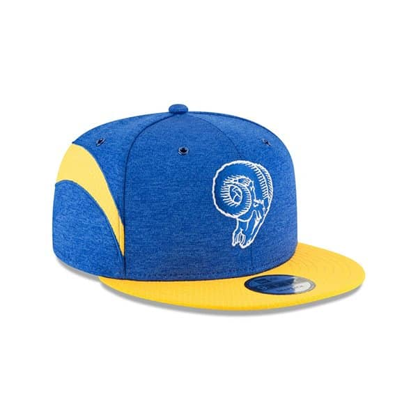 Los Angeles Rams Throwback 2018 NFL Sideline 9FIFTY Snapback Cap Home
