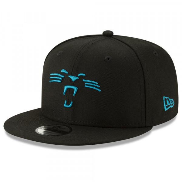 6de5e533349 New Era Carolina Panthers Logo Elements 9FIFTY Snapback NFL Cap Black |  TAASS.com Fan Shop