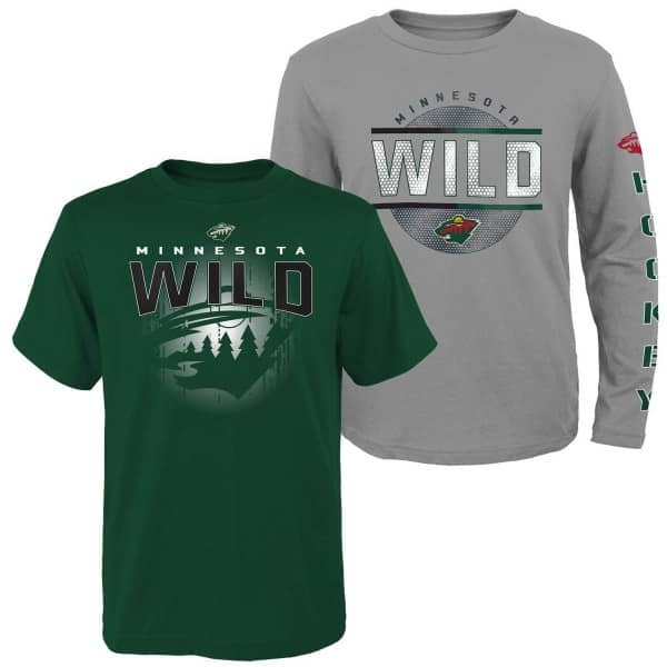 Minnesota Wild Evolution 3-in-1 Combo Shirt Set (KINDER)