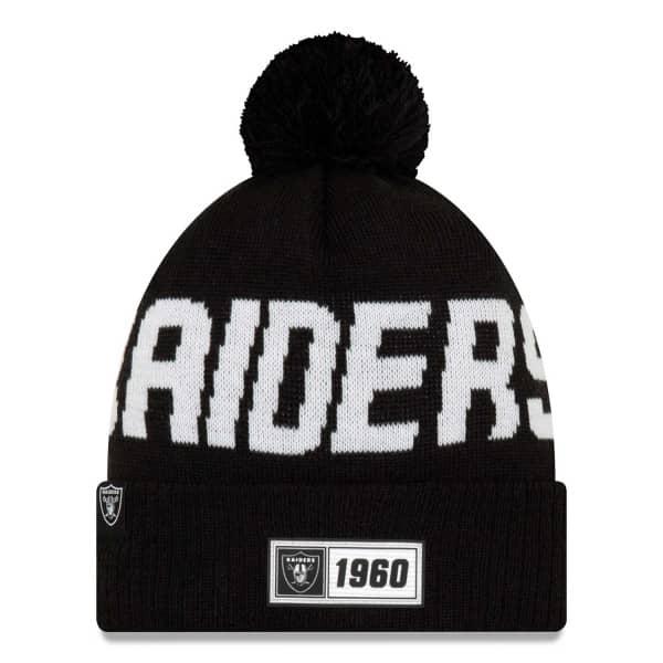 Las Vegas Raiders Black 2019 NFL Sideline Sport Knit Wintermütze Road