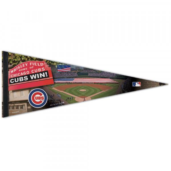 Chicago Cubs Wrigley Field Stadium Premium MLB Wimpel