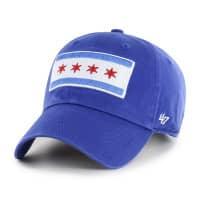 Chicago Cubs City Flag '47 Clean Up Adjustable MLB Cap Blau