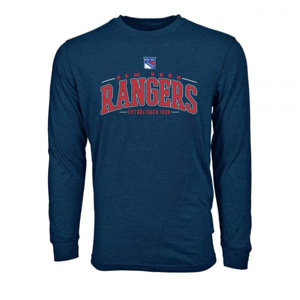 New York Rangers Mesh Text NHL Long Sleeve T-Shirt
