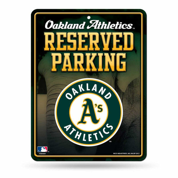 Oakland Athletics Reserved Parking MLB Metallschild