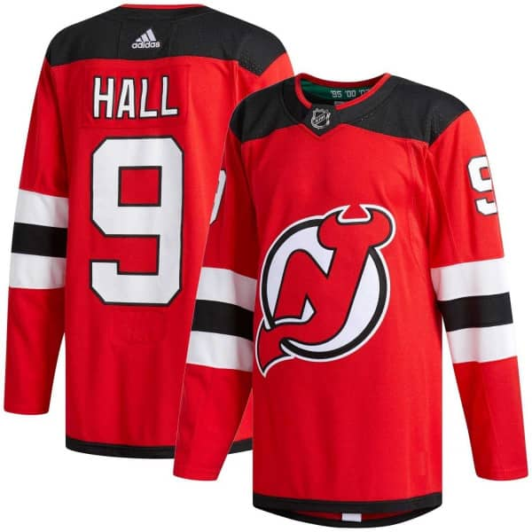 Taylor Hall #9 New Jersey Devils Authentic Pro NHL Trikot Home