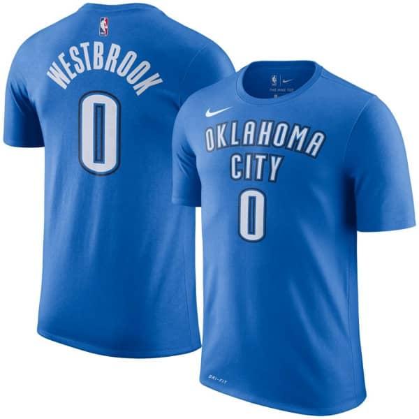 the latest ed0f6 ec319 Russell Westbrook #0 Oklahoma City Thunder Player NBA T-Shirt