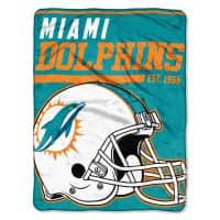 Miami Dolphins Super Plush NFL Decke