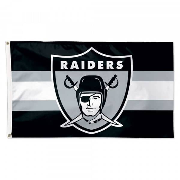 Las Vegas Raiders Throwback WinCraft Deluxe NFL Hissfahne