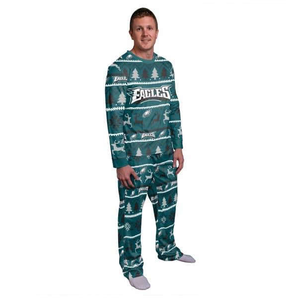 Philadelphia Eagles Holiday Wordmark NFL Schlafanzug Set (2-Teilig)