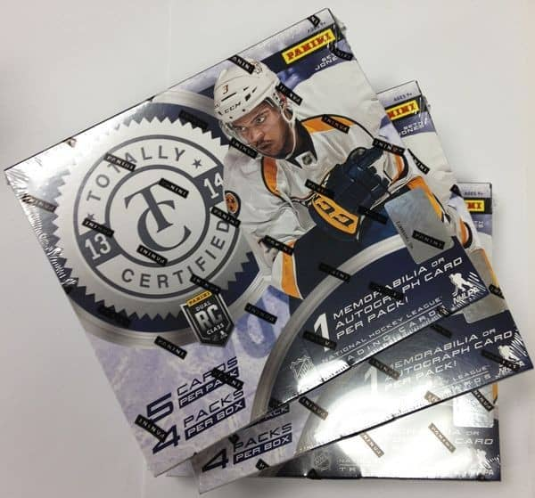 2013/14 Panini Totally Certified Hockey Hobby Box NHL