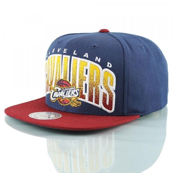 da8293d90a8 Mitchell   Ness Cleveland Cavaliers Double Bonus Snapback NBA Cap ...