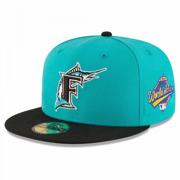 Florida Marlins 1997 World Series Cooperstown New Era 59FIFTY Fitted MLB Cap Teal
