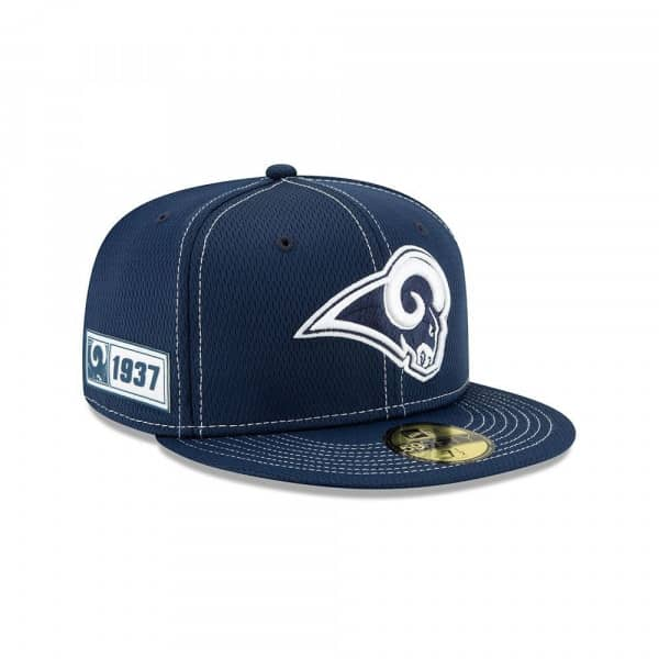 Los Angeles Rams 2019 NFL On-Field Sideline 59FIFTY Fitted Cap Road
