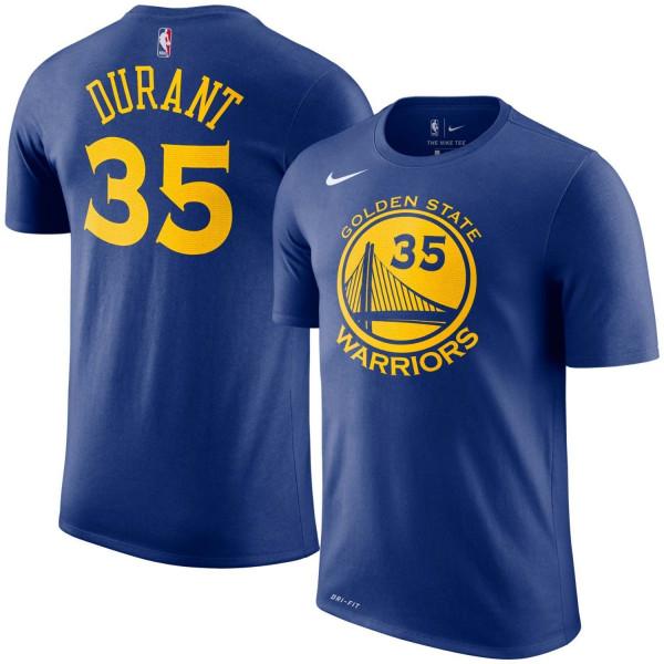 65ba5a01 Nike Kevin Durant #35 Golden State Warriors Player NBA T-Shirt Blue |  TAASS.com Fan Shop