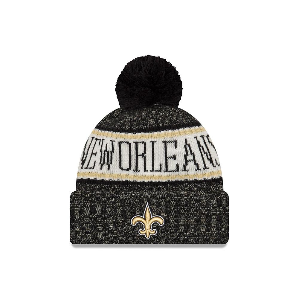 6cdf2a48b New Era New Orleans Saints 2018 Sideline Sport Knit NFL Knit Hat ...
