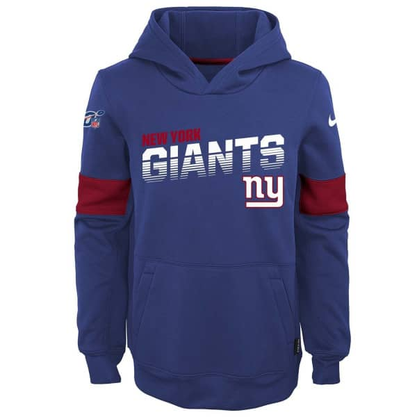 New York Giants 2019 NFL Sideline Therma Hoodie (KINDER)
