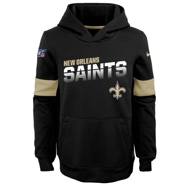 New Orleans Saints 2019 NFL Sideline Therma Hoodie (KINDER)