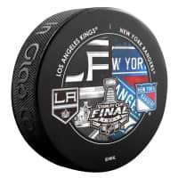 2014 Stanley Cup Finals Dueling NHL Souvenir Puck - Rangers vs. LA Kings