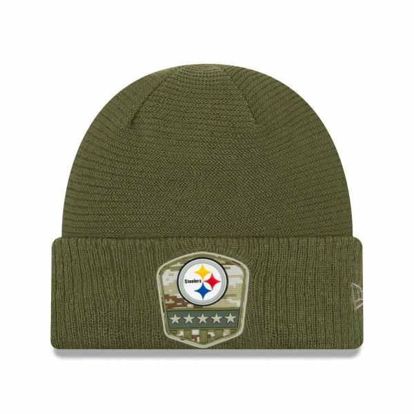 Pittsburgh Steelers 2019 On-Field Salute to Service NFL Beanie Wintermütze