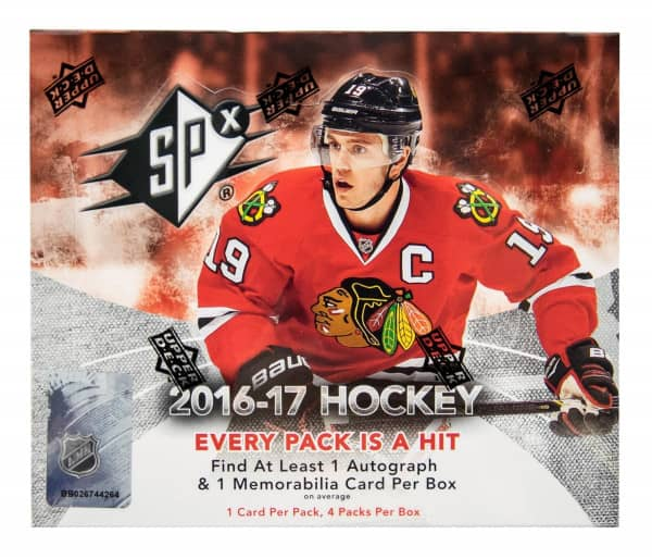 2016/17 Upper Deck SPx Hockey Hobby Box NHL