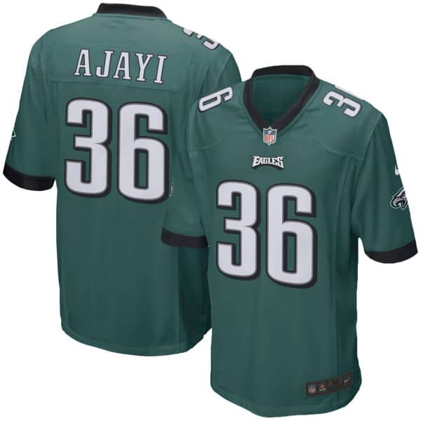 Jay Ajayi #36 Philadelphia Eagles Game Football NFL Trikot Grün