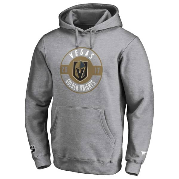 Vegas Golden Knights Circle 2017 Fanatics Iconic NHL Hoodie Grau