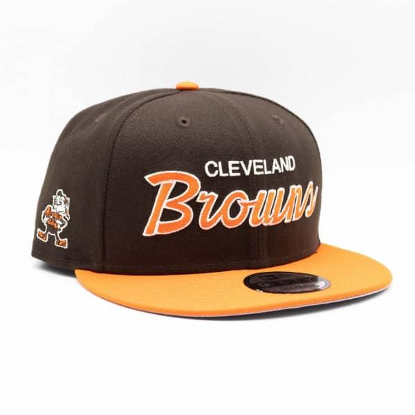 Cleveland Browns 2-Tone Throwback Script New Era 9FIFTY NFL Snapback Cap