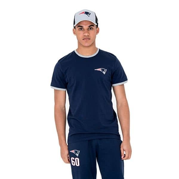 09b213991 New Era New England Patriots Ringer NFL T-Shirt Navy | TAASS.com Fan Shop