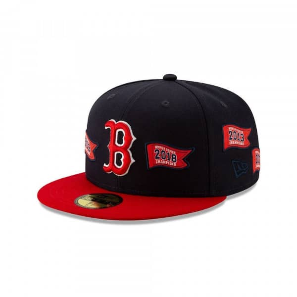 Boston Red Sox 2018 World Series Champs Pennants 59FIFTY Fitted MLB Cap
