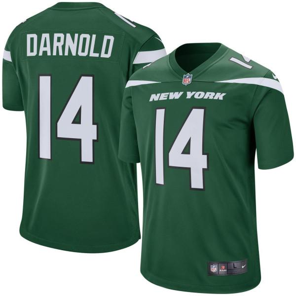 Sam Darnold #14 New York Jets Game Football NFL Trikot Grün