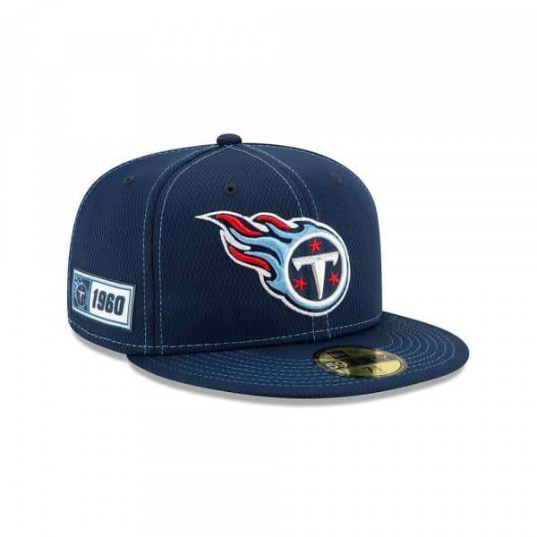 Tennessee Titans 2019 NFL On-Field Sideline 59FIFTY Fitted Cap Road