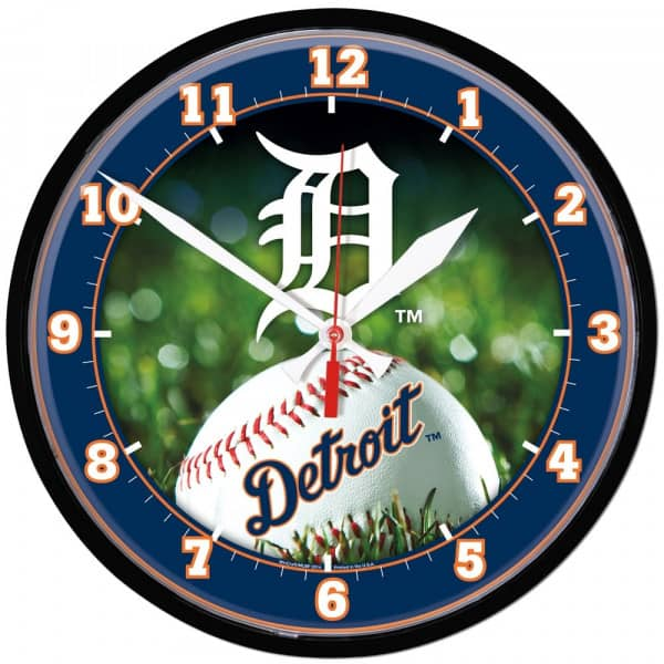Detroit Tigers Baseball MLB Wanduhr