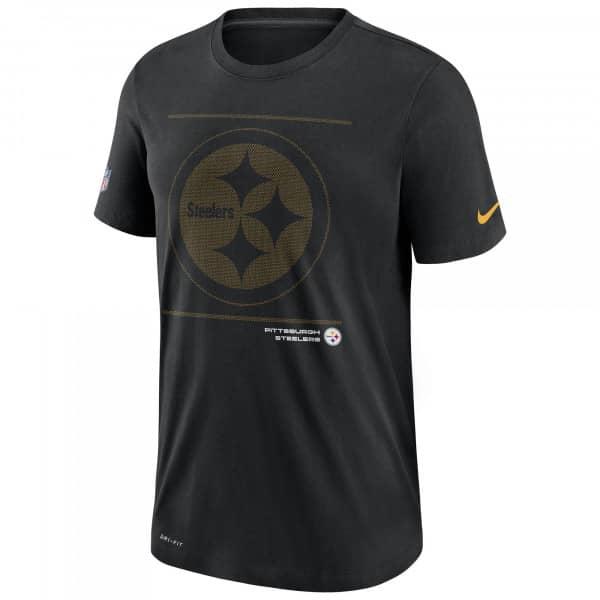 Pittsburgh Steelers 2021 NFL Sideline Team Issue Nike T-Shirt Schwarz