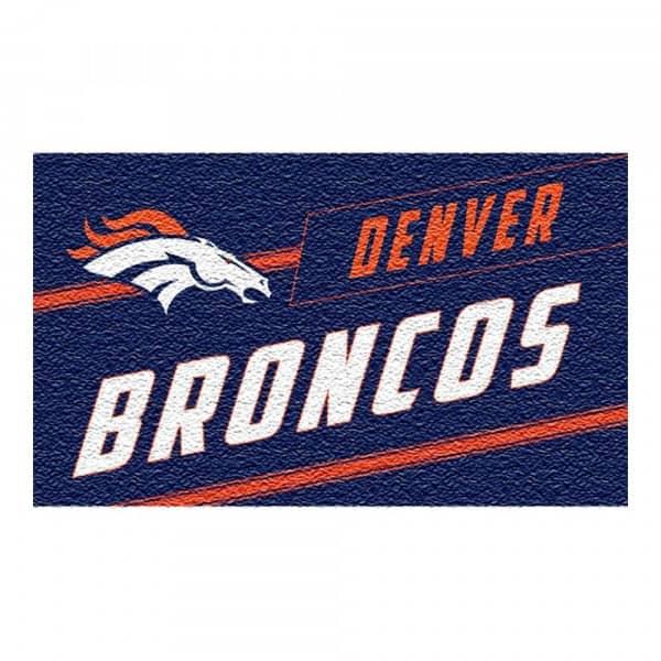 Denver Broncos Punch Print NFL Kokos Fußmatte