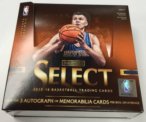 2015/16 Panini Select Basketball Hobby Box NBA