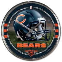 Chicago Bears Chrome NFL Wanduhr